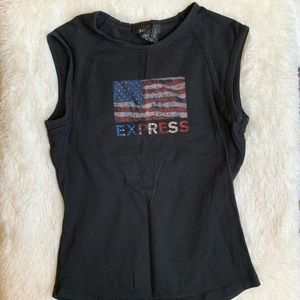 Express American Flag muscle tank womens XS